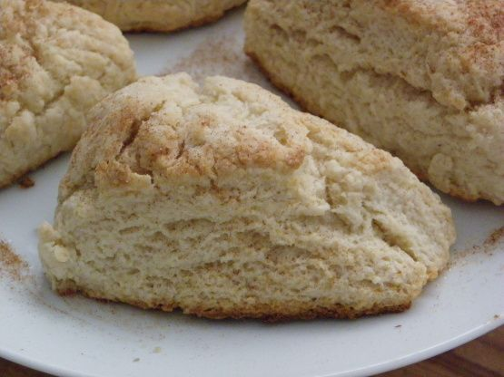 Simple Sweet Scones Recipe - I used whole wheat pastry flour and added chocolate chips and about 1/4 t. cinnamon to a half batch.  Needed a snack on this dreary evening.