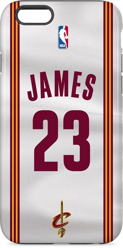 LeBron James #23 Cleveland Cavaliers Home Jersey iPhone 6 inkFusion Pro Case. Available as a case or skin on multiple devices. Shop now at www.skinit.com #NBA #NBAfinals #Cavs #Cavaliers #iphone #iphonecase