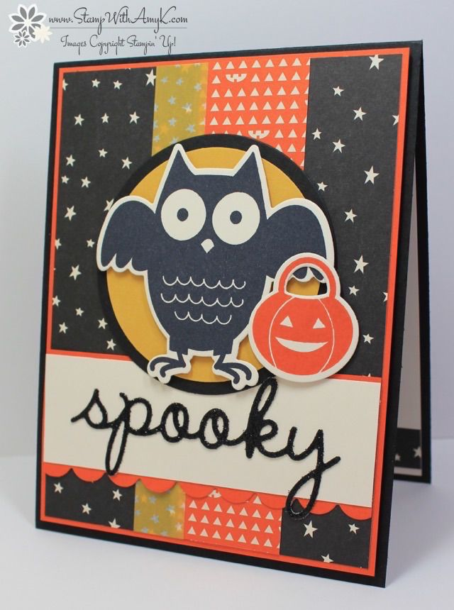 stampin up howl o ween treat owl card - Stampin Up Halloween Ideas