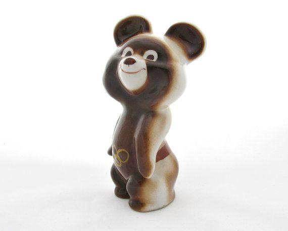 Olympic Bear Misha Porcelain Bear Figurine