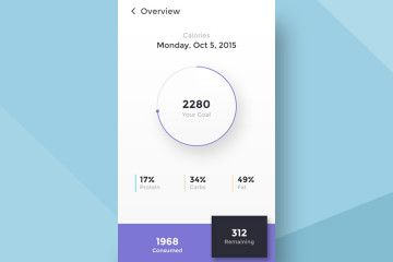Calories Calculator, Angelika Omer, clean purple, mobile app
