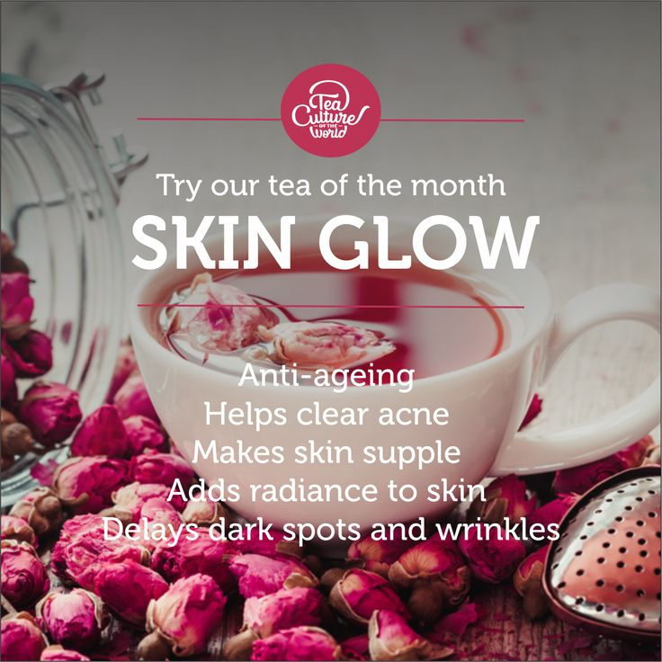 The rosy hues swirling in your teacup won't stay there. You'll find them reflecting on your skin, giving you a healthy glow. In our blend of green tea and rose petals, you'll discover an elixir that you'll make a part of your beauty. Our tea of the month - Skin Glow