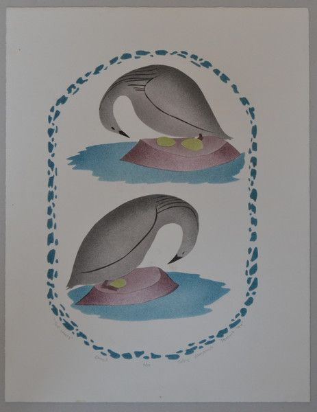 Two Loons by Jolly Atagoouok stencil