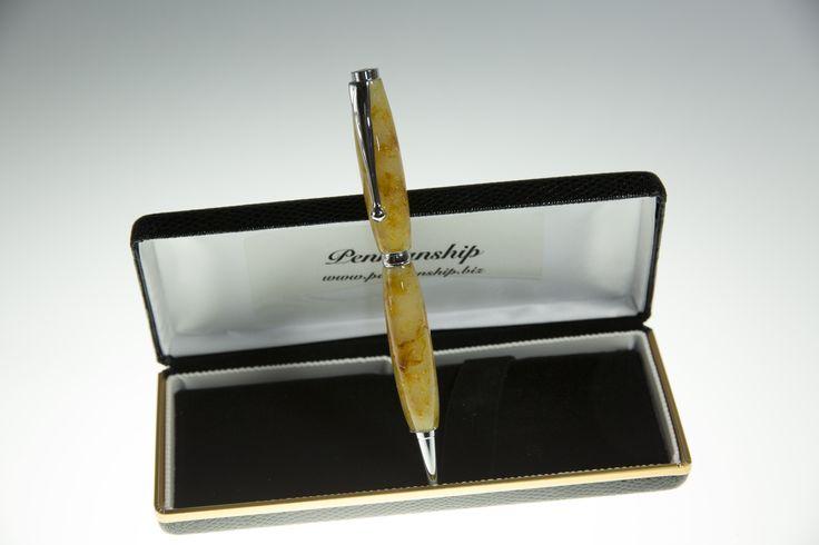 Fancy Slimline Pen in Golden brown Acrylic
