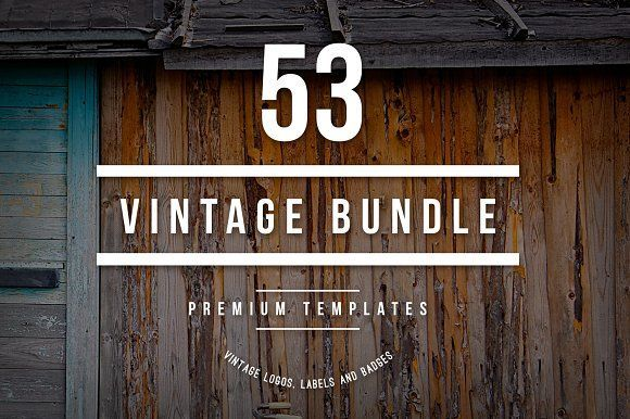 Bundle - 53 Vintage Logos & Badges by DesignDistrict on @creativemarket