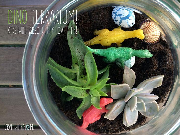 CraftWithMom: Dinosaur terrarium!