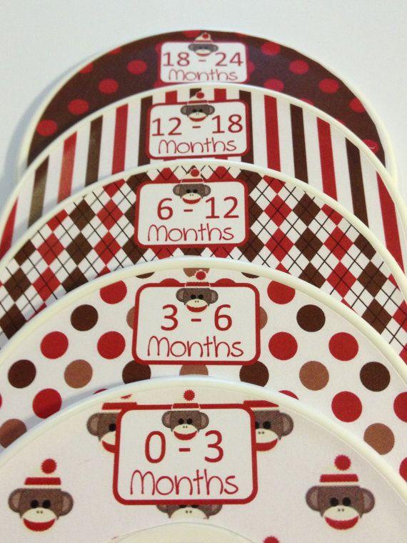 Great Stocking Stuffers for Baby  Boy 5 Custom Baby Closet Dividers Organizers  by GinaMarieOriginals, $15.00