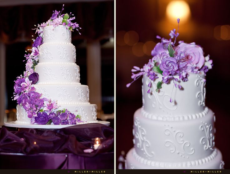 63 Best Purple Wedding Cakes Images On Pinterest