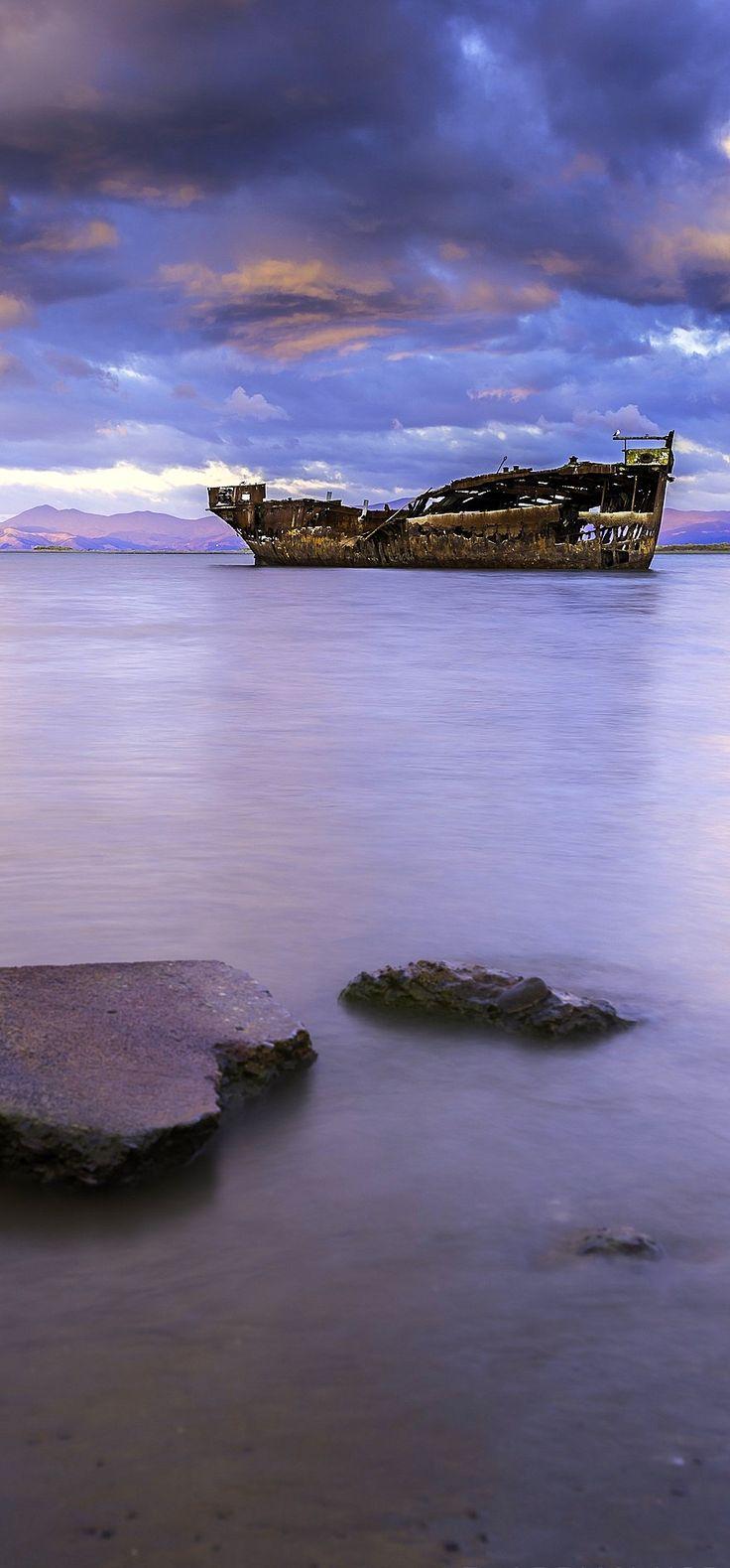 Shipwreck located at Motueka, Beach Nelson, New Zealand