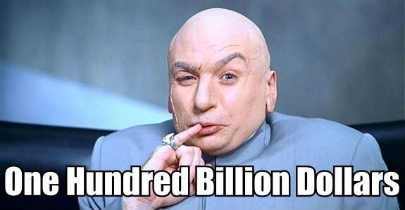 Quote from Dr. Evil of Austin Powers. Love it!!!