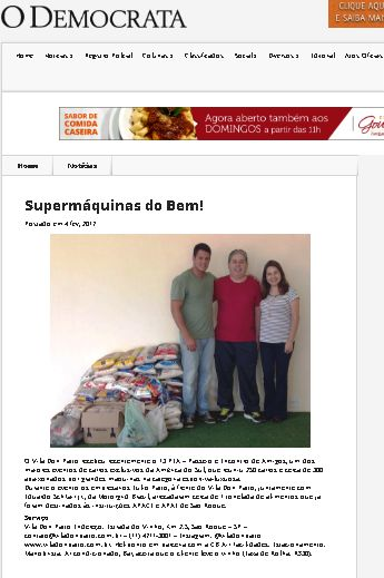 Vila Don Patto | Site Jornal O Democrata | Janeiro de 2017 com #13PEA #apae #apace #motorgrid #motorgridbrasil