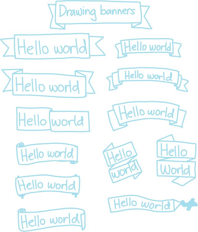 Sketchnote Lessons: Banners and ribbons - sacha chua :: living an awesome life