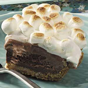dessert: Health Desserts, Cream Pies Recipes, Marshmallows Brownies, S More Ice, Desserts Healthy, Smore, Healthy Desserts, Ice Cream Pies, Icecream