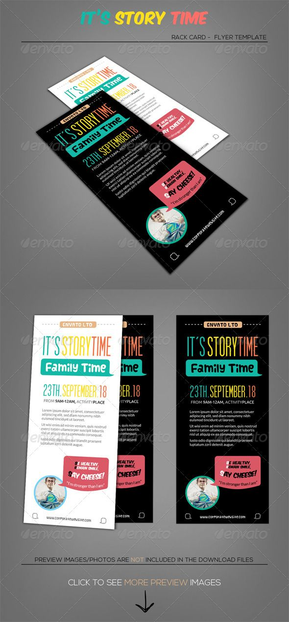 Little talks story time rack card template story for Rack card template for word