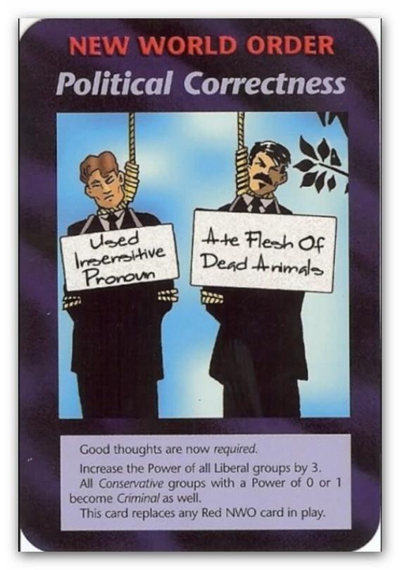 Illuminati Card Political Correctness