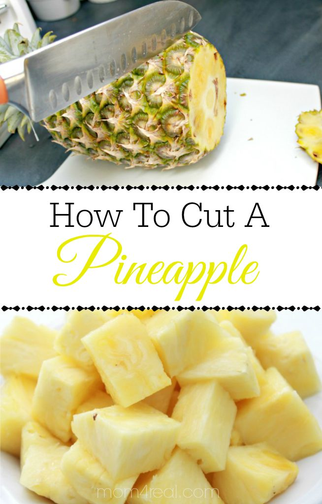 How To Cut A Pineapple Into Chunks In Minutes! - Mom 4 Real