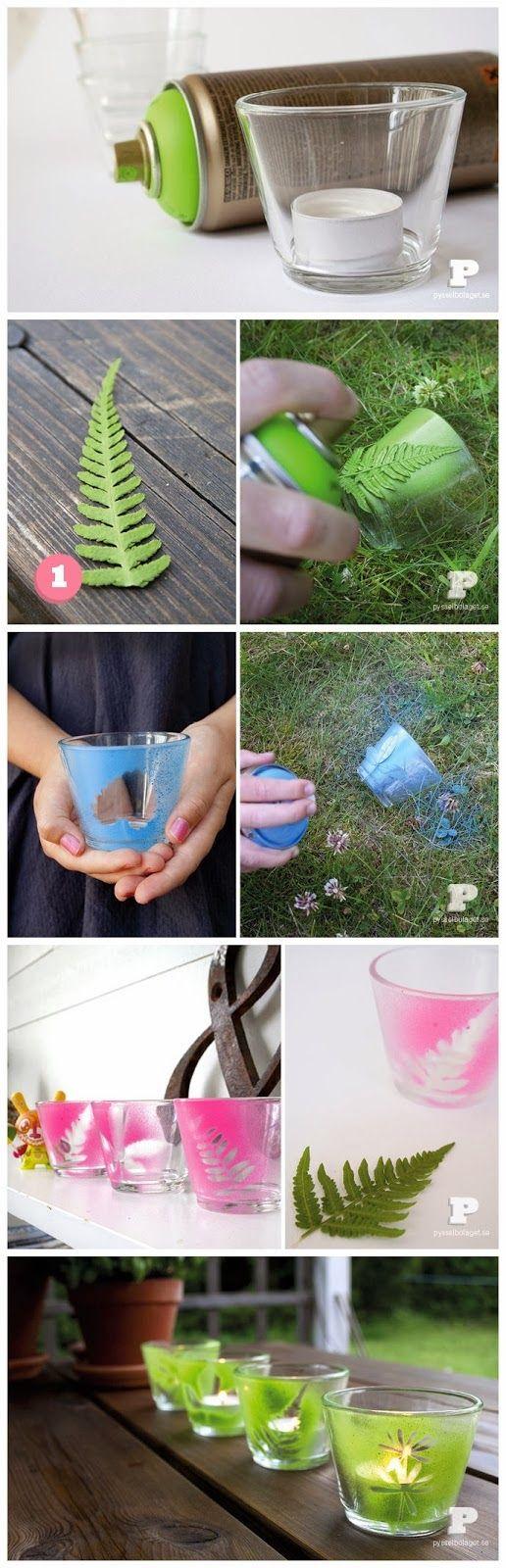 Diy : Spray paint tealight holders