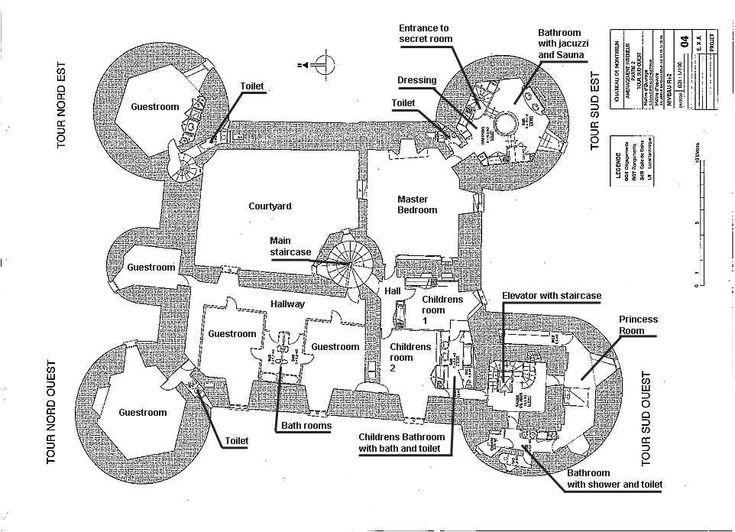 Montbrun layout architecture pinterest castles for Medieval castle house plans