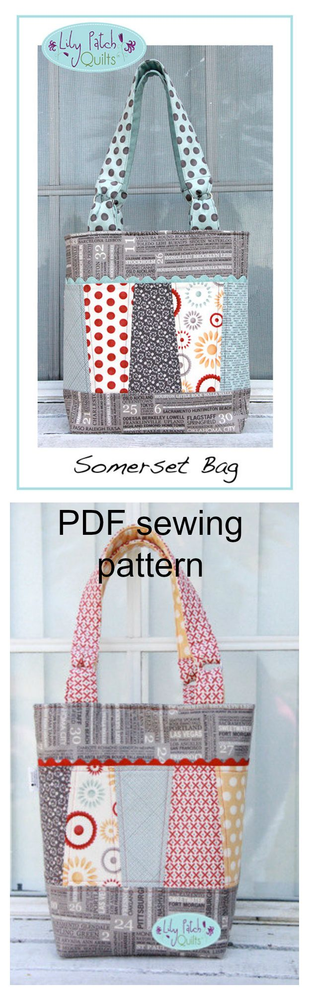 Download this pdf swing pattern for The Somerset Bag.The Somerset bag can be used for shopping, running errands or just about any occasion will do.
