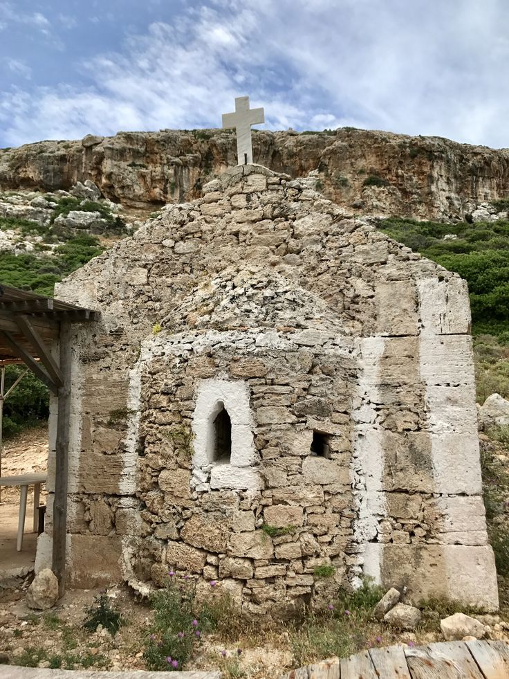 Old church on Balos Crete, made in 1821