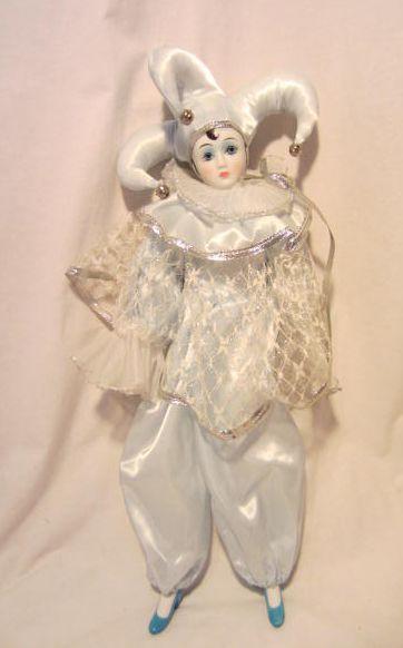 vintage harlequin dolls | Victoria Impex Harlequin Clown Blue Porcelain Doll | eBay