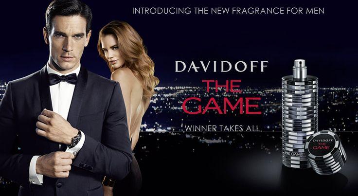The Game by Davidoff - Top notas de gin e bagas de zimbro com coração de madeiras preciosas e íris com fundo de ébano.