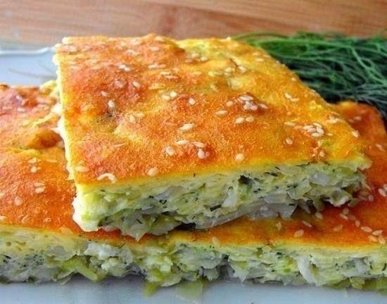 Капустный пирог на кефире | Школа вкуса  - вкусные кулинарные рецепты