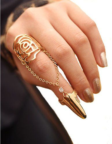 FIBO STEEL Women's Rose Gold Finger Ring Fingernail Ring Fashion Wedding Rings FIBO STEEL,http://www.amazon.com/dp/B00HCAB3I4/ref=cm_sw_r_pi_dp_0y0qtb1STWWWV5ZS