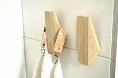 kožená odnímatelná ouška na ručníky / temporary leather hanger for towels