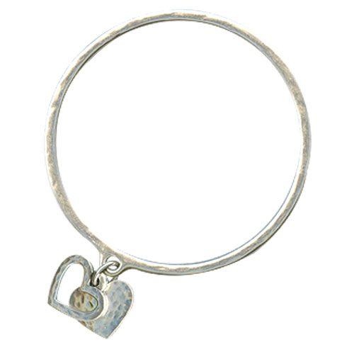 Danon Silver Bangle With Two Small Silver Hearts|lizzielane.co.uk £22 http://www.lizzielane.co.uk/shop/danon-silver-bangle-with-two-small-silver-hearts