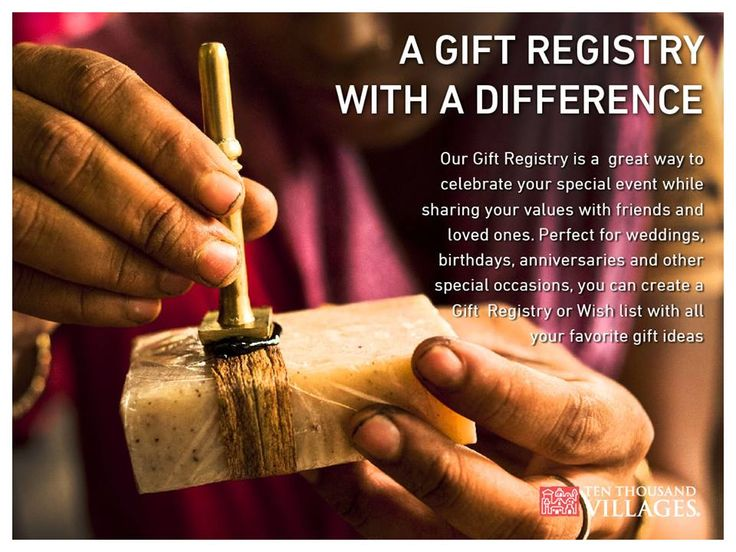 A Gift Registry with a difference. #fairtrade #wedding #giftregistry