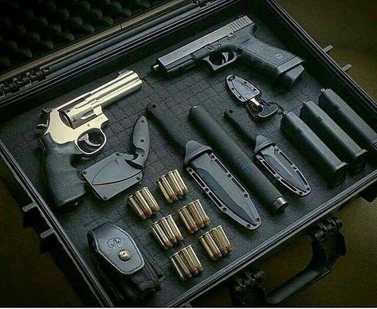 S&W 686 & Glock 17 with threaded barrel