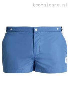 Heren Zwembroeken Robinson Les Bains Oxford Zwemshorts Blue Indigo