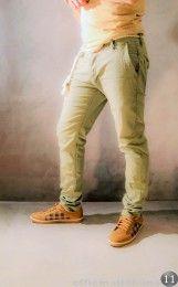 Pantalone con cinta corda grigio