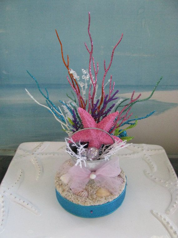 Pink Starfish Cake Topper~Seashell Cake Topper by CeShoreTreasures on Etsy