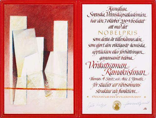 Venkatraman Ramakrishnan - Nobel Diploma                                                                                                                                                                                 More