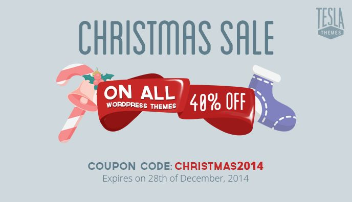Christmas sale: 40% OFF on all WordPress themes