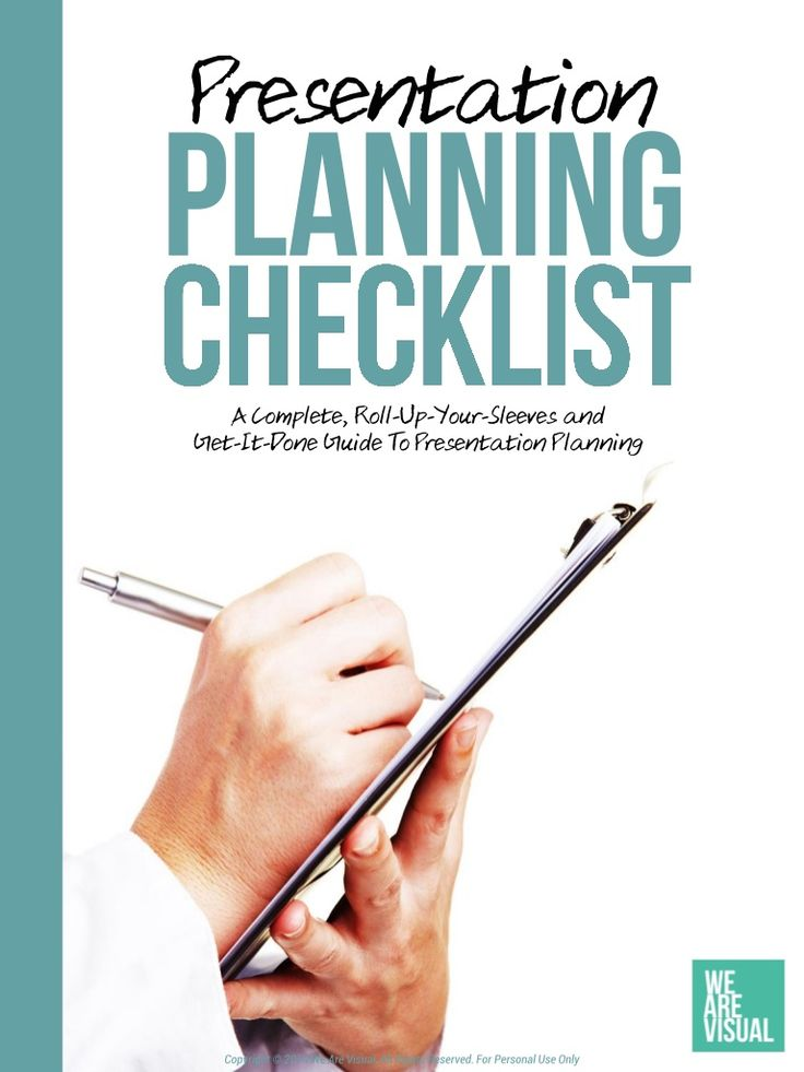 The Presentation Planning Checklist - Free eBook by We Are Visual