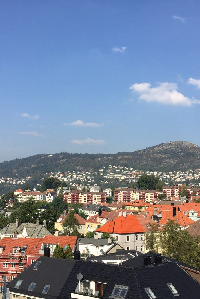 Lovely view Bergen's mountains in Norway