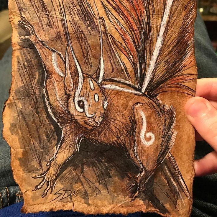 #feywild #squirrel for #inktober #doodle #doodleaday #doodlesofinstagram #nerdart #cute #fey #fairy #dungeonsanddragons #pathfinder