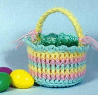 Easter candy basket ~ Free pattern