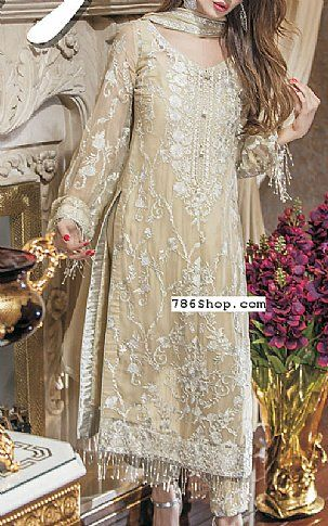 f0f50912fa Light Golden Chiffon Suit | Buy Maheen Kardar Pakistani Dresses and  Clothing online in USA, UK