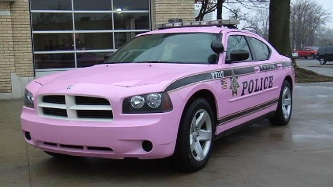 Tulsa Police Department's pink police car lets women know that they aren't alone in the fight against breast cancer.