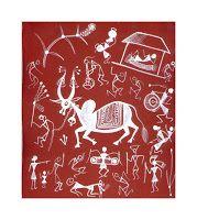 S warli Shantaram Tumbada, série de 21 acryliques sur papier, 1997, 28x25cm