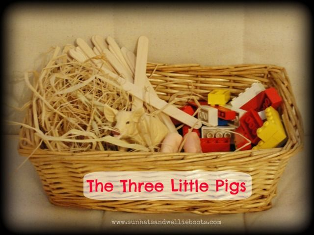 The Three Little Pigs Story Basket