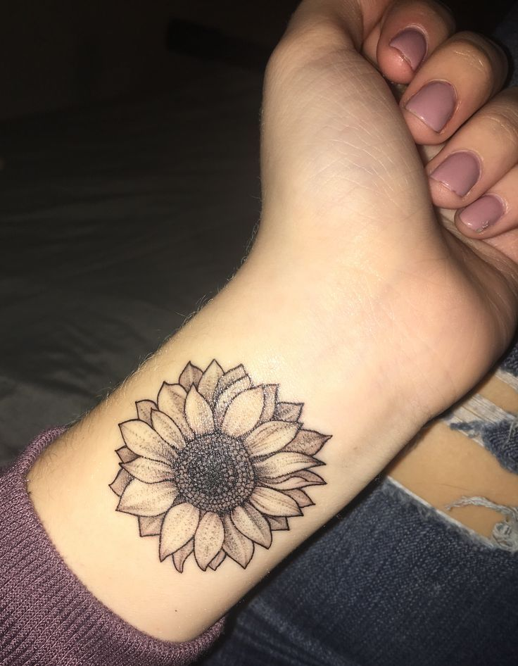 Image result for sunflower tattoos on wrist