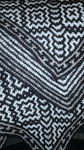 Southwestern Mosaic Cross Throw free crochet pattern