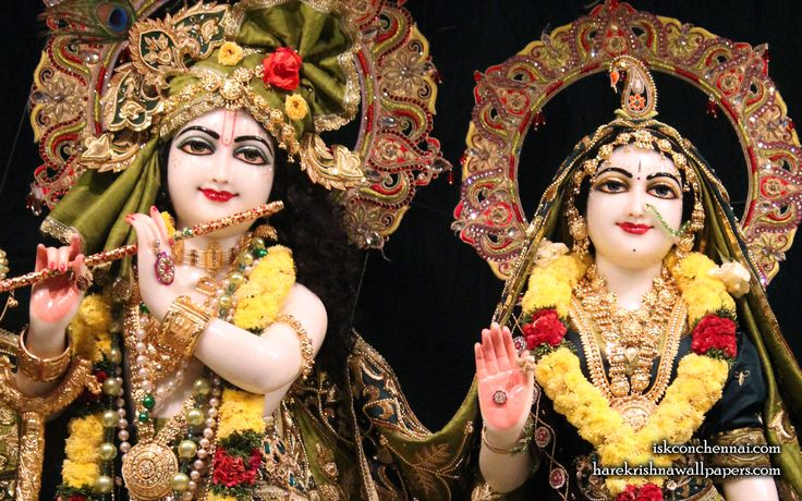 To view Radha Krishna Close Up  Wallpaper of ISKCON Chennai in difference sizes visit - http://harekrishnawallpapers.com/sri-sri-radha-krishna-close-up-iskcon-chennai-wallpaper-017/