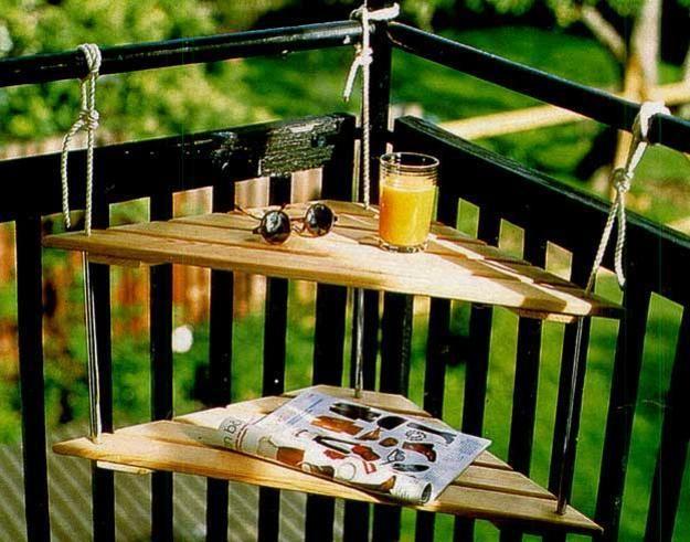 ahorro de espacio ideas para pequeños diseños balcón