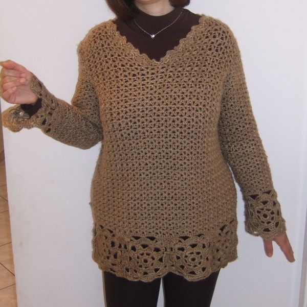 Crocheted sweater https://www.facebook.com/pages/%CE%A0%CE%BB%CE%B5%CE%BA%CF%84%CE%B5%CF%82-%CE%94%CE%B7%CE%BC%CE%B9%CE%BF%CF%85%CF%81%CE%B3%CE%B9%CE%B5%CF%82-Andrianas-Creations/355227501235306